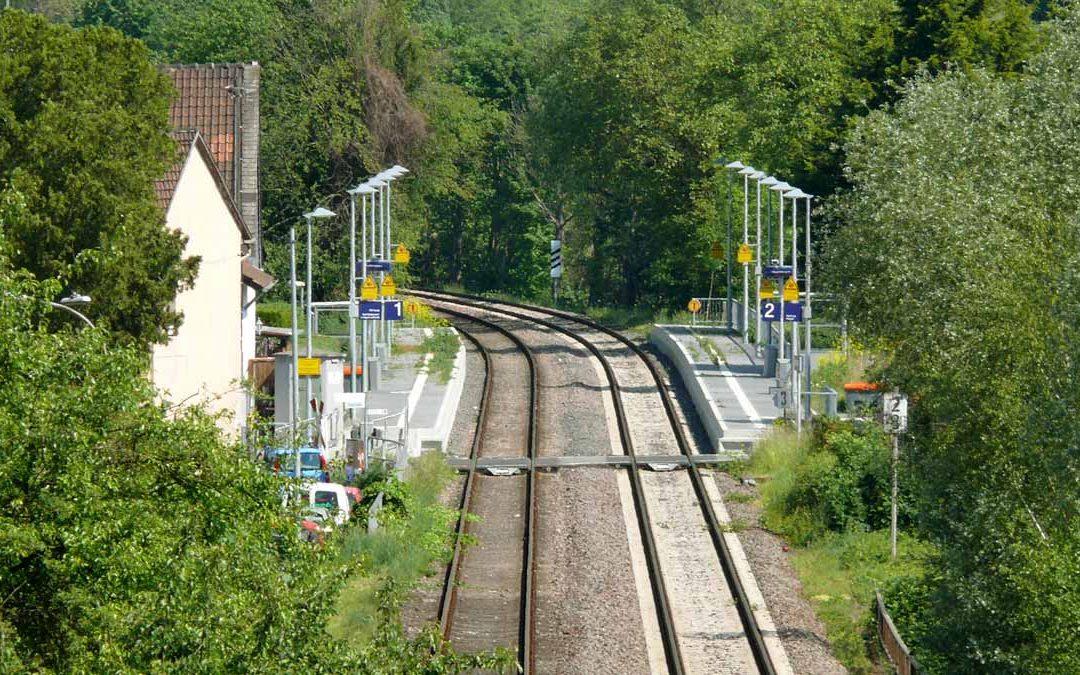 Nächtliche Gleisarbeiten DB Höhe Münster-Sarmsheim